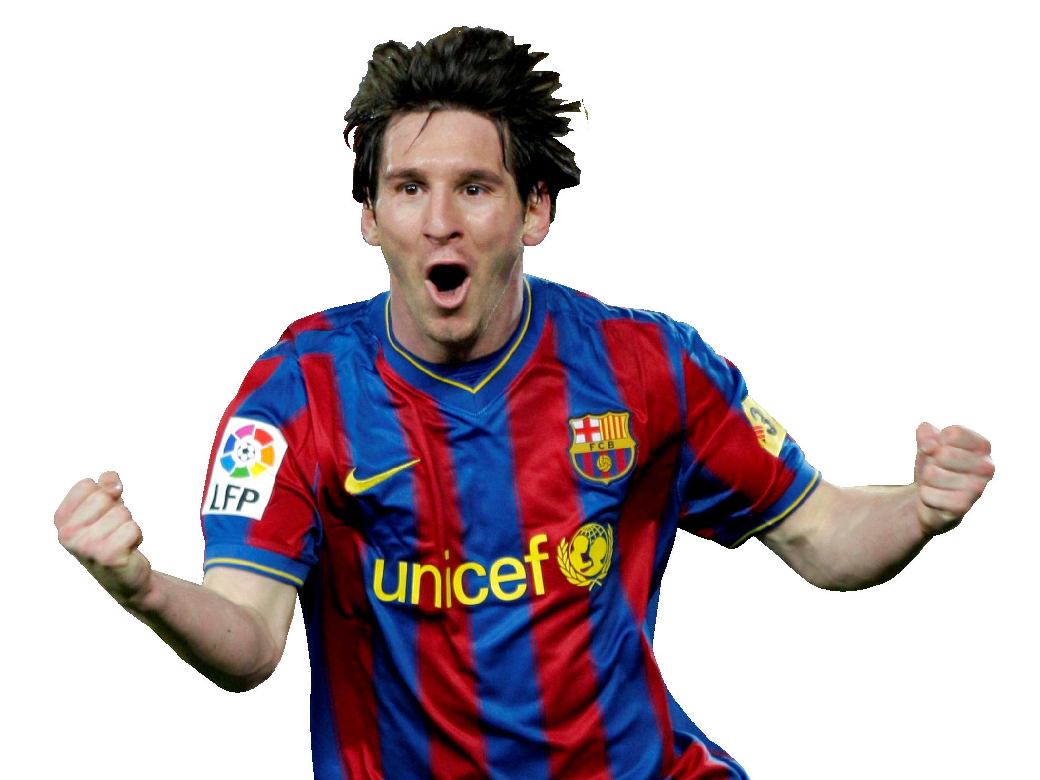 Lionel Messi PNG Transparent Image.