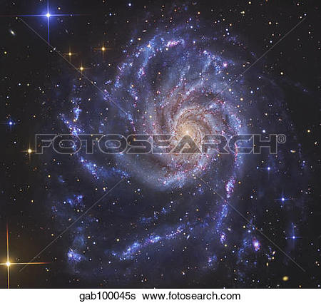Stock Images of The Pinwheel Galaxy, also known as NGC 5457.