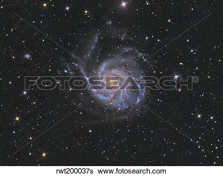Stock Images of Messier 101, the Pinwheel Galaxy. rwt200037s.