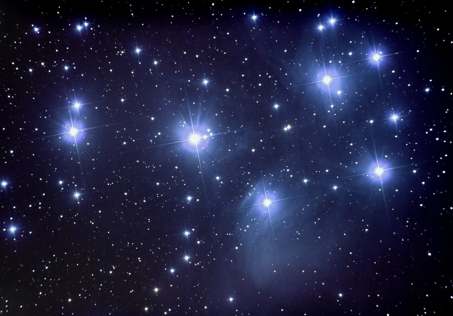 Pleiades open cluster Picture, Pleiades open cluster Image.