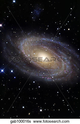 Stock Images of Messier 81, a spiral galaxy in the constellation.
