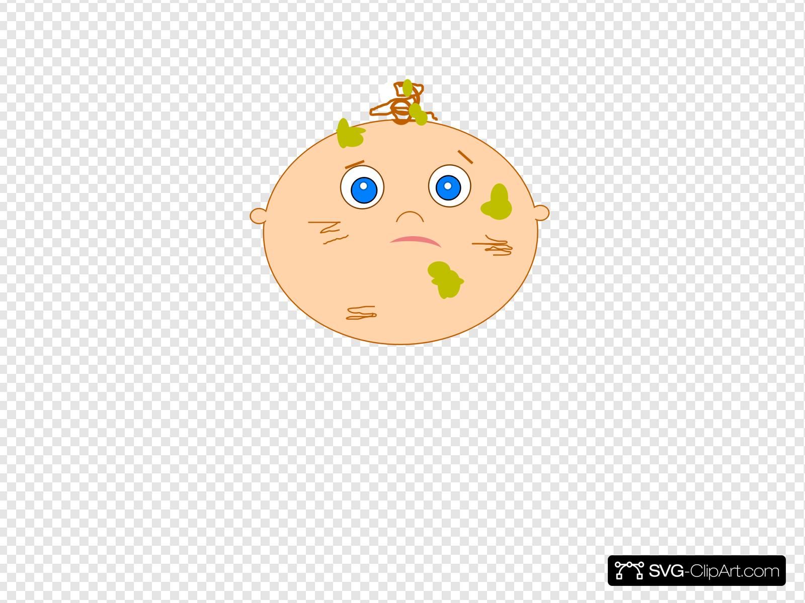 Messy Baby Clip art, Icon and SVG.