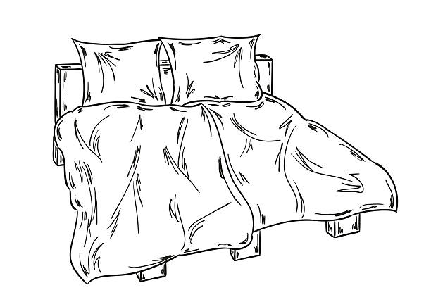 Unmade Bed No People Illustrations, Royalty.