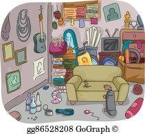 Messy Room Clip Art.