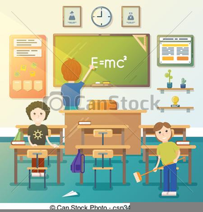 Messy Classroom Clipart.