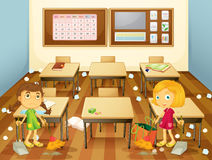 Dirty Classroom Stock Illustrations.