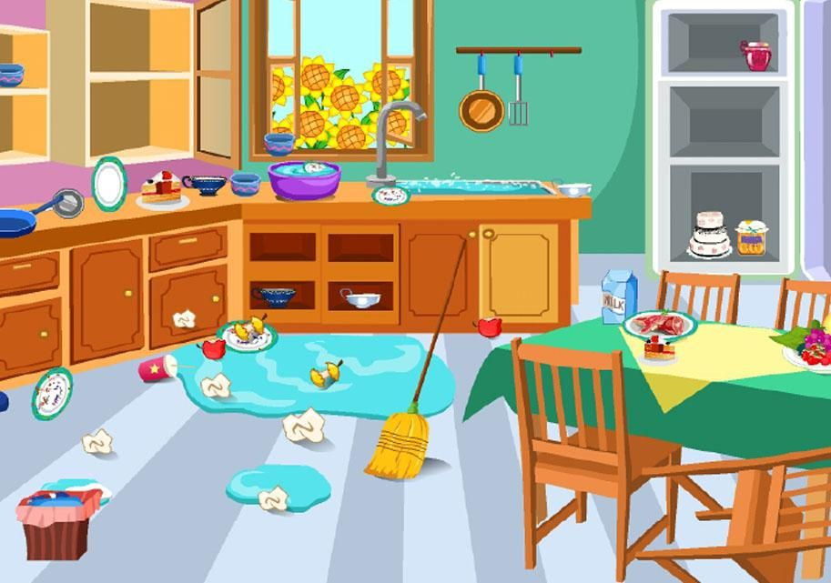 Image result for messy living room clipart.