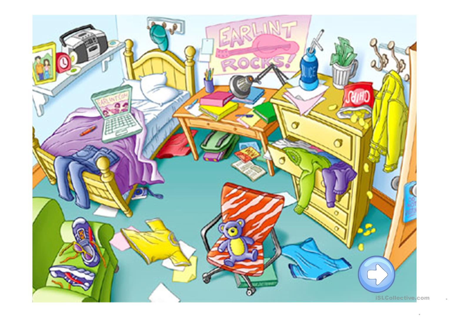 Messy Room Clipart 9.