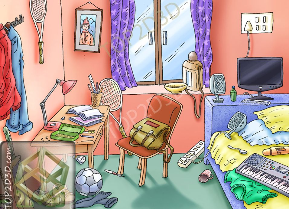 Messy Room Clipart Group with 19+ items.