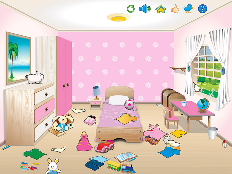 Messy Room Clipart 16.