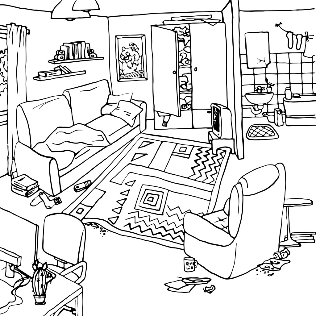 Apartment clipart messy, Apartment messy Transparent FREE.