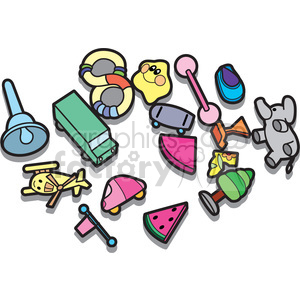 messy kids room illustration graphic clipart. Royalty.