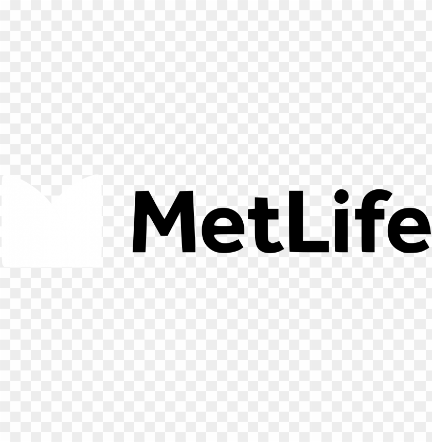 metlife logo black and white.