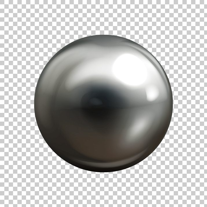 Realistic Chrome Metal Ball PNG Image Free Download.