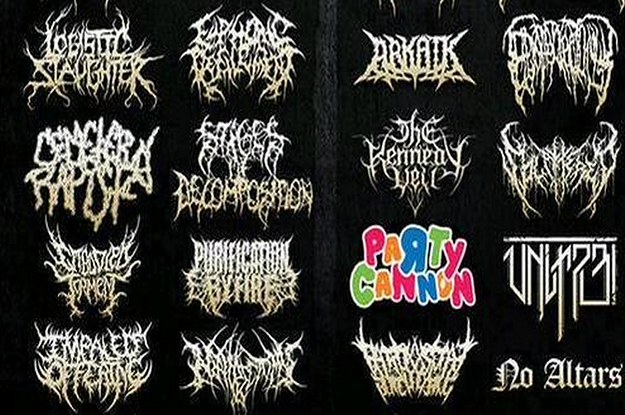This Death Metal Band Has The Least Death Metal Logo Possible.