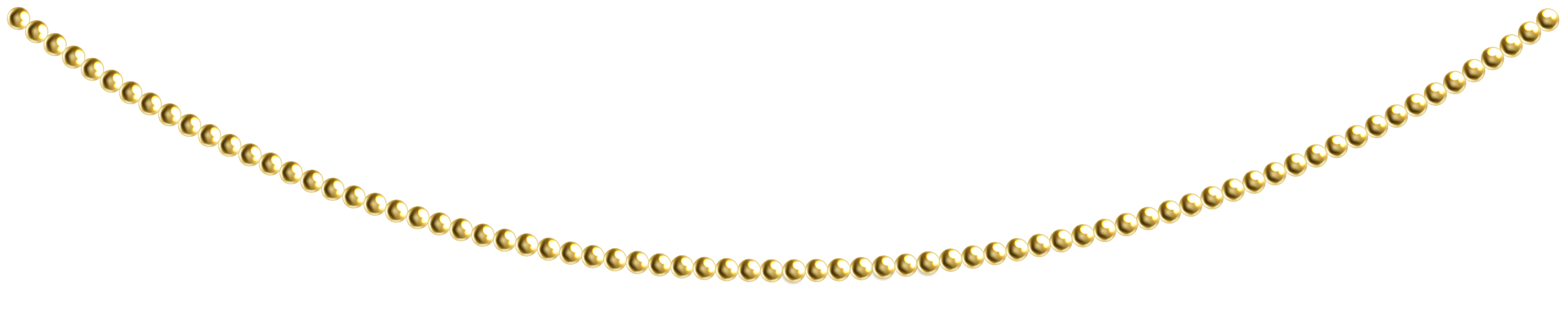 Gold Beads Decoration PNG Clip Art Image.