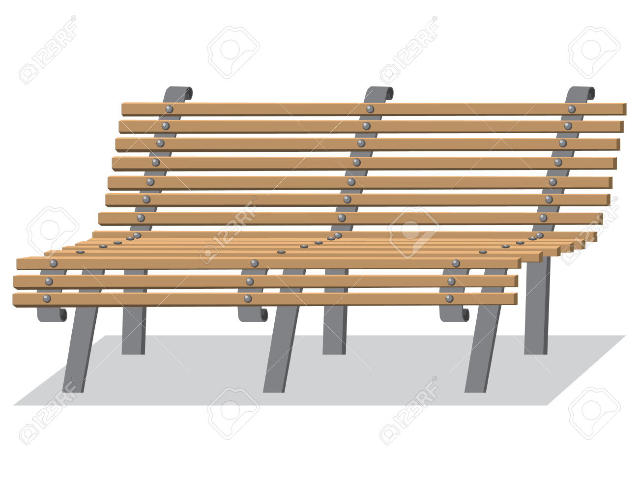 376 Wooden Bench Metal Stock Vector Illustration And Royalty Free.