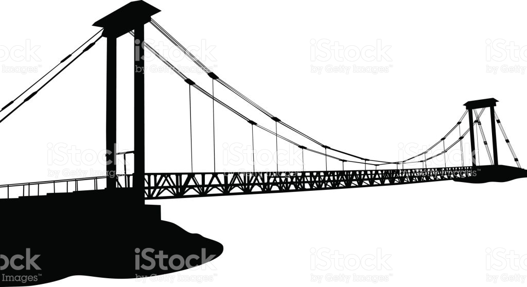 Modern Metal Bridge stock vector art 673103940.
