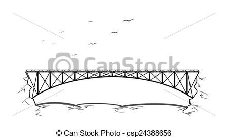 Metal bridge clipart #18