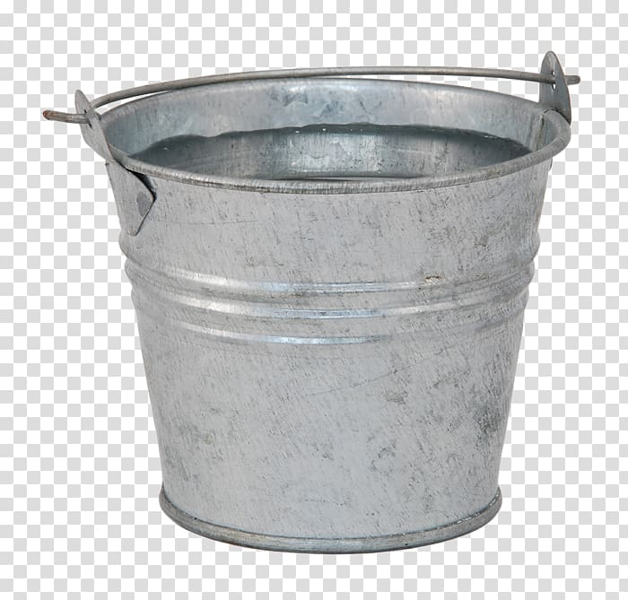 Bucket Pail Water Metal, bucket transparent background PNG.