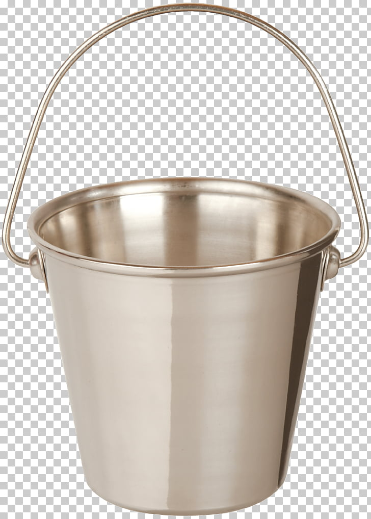 Table Bucket Stainless steel, Metal Bucket PNG clipart.