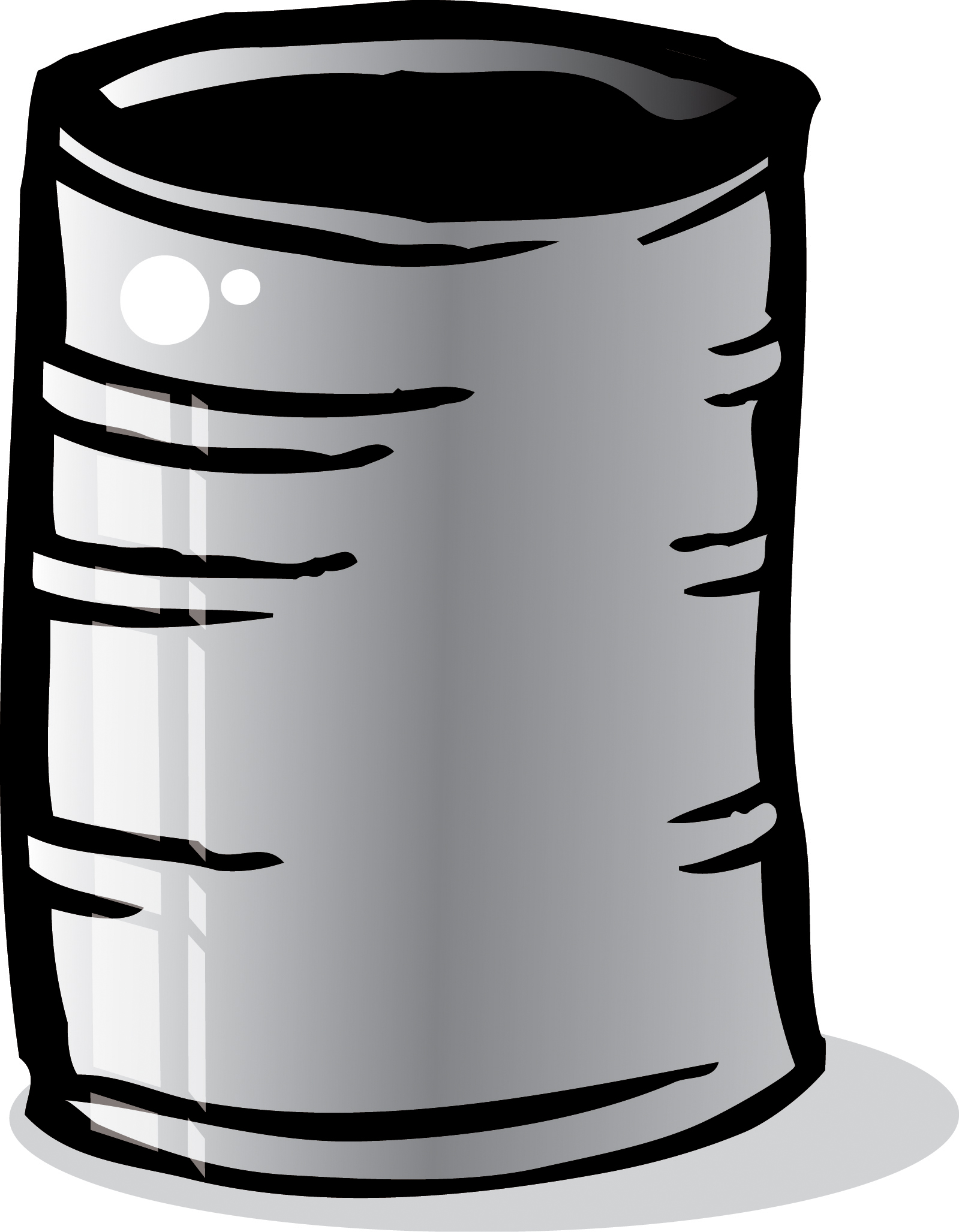 Metal cans clipart.
