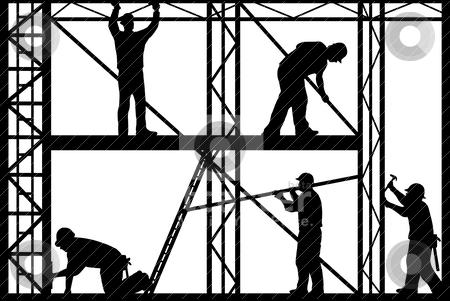 Construction workers stock vector.