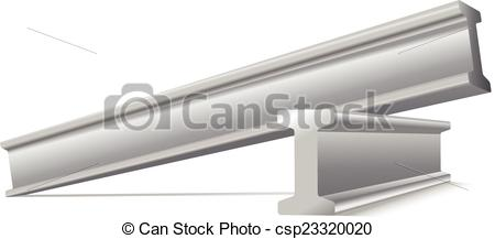 Vector Illustration of metal construction beams vector isolated on.