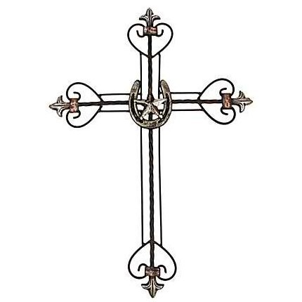 Horseshoe & Star Metal Cross.