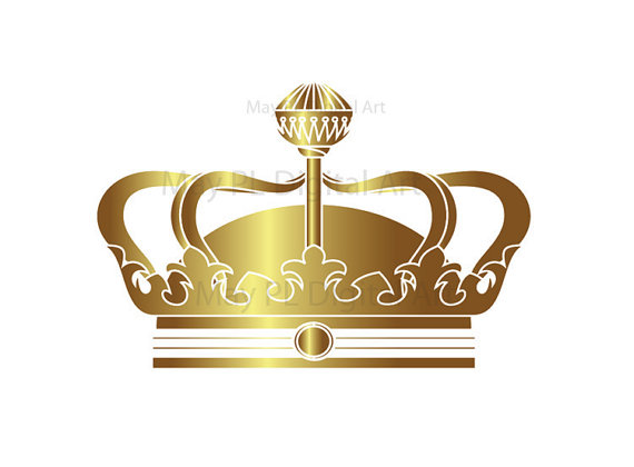 Gold Crowns Digital Clip Art Crown Royal Clipart Scrapbook School.