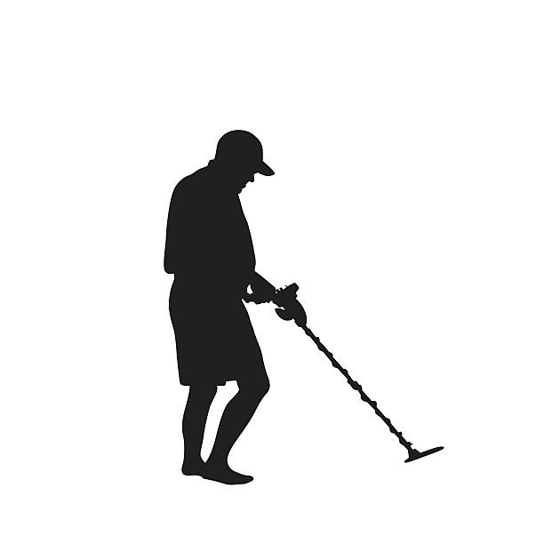 Best Metal Detector Illustrations, Royalty.