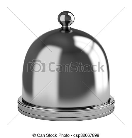 Stock Illustration of Metal dome isolated on white background. 3d.
