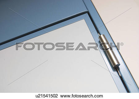 Stock Photo of door, metal, Attach, fixture, fitting, attachment.