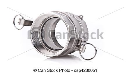 Stock Photography of Abstract Photo of a Stainless Steel Threaded.