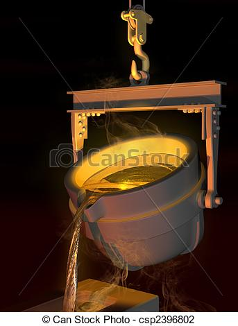 Clip Art of Molten metal.