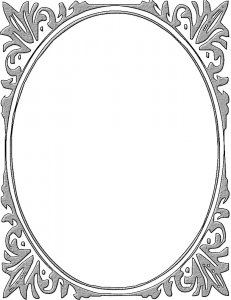 Oval Hammered Metal Frame Clip Art Download.