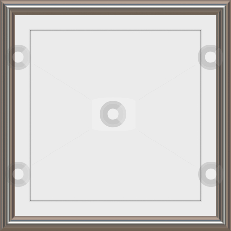 Metal frame stock vector.