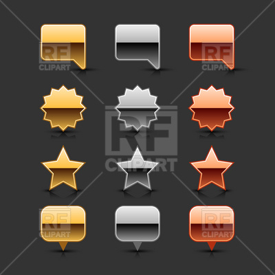 Set of metal glossy labels Vector Image #13996.