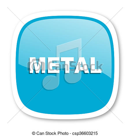 Clipart of metal music blue glossy web icon.