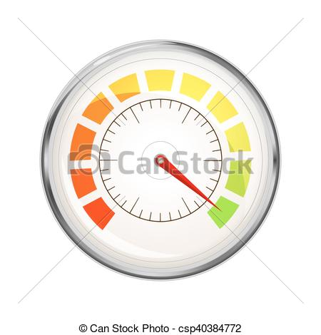 Vectors Illustration of Performance measurement indicator, glossy.