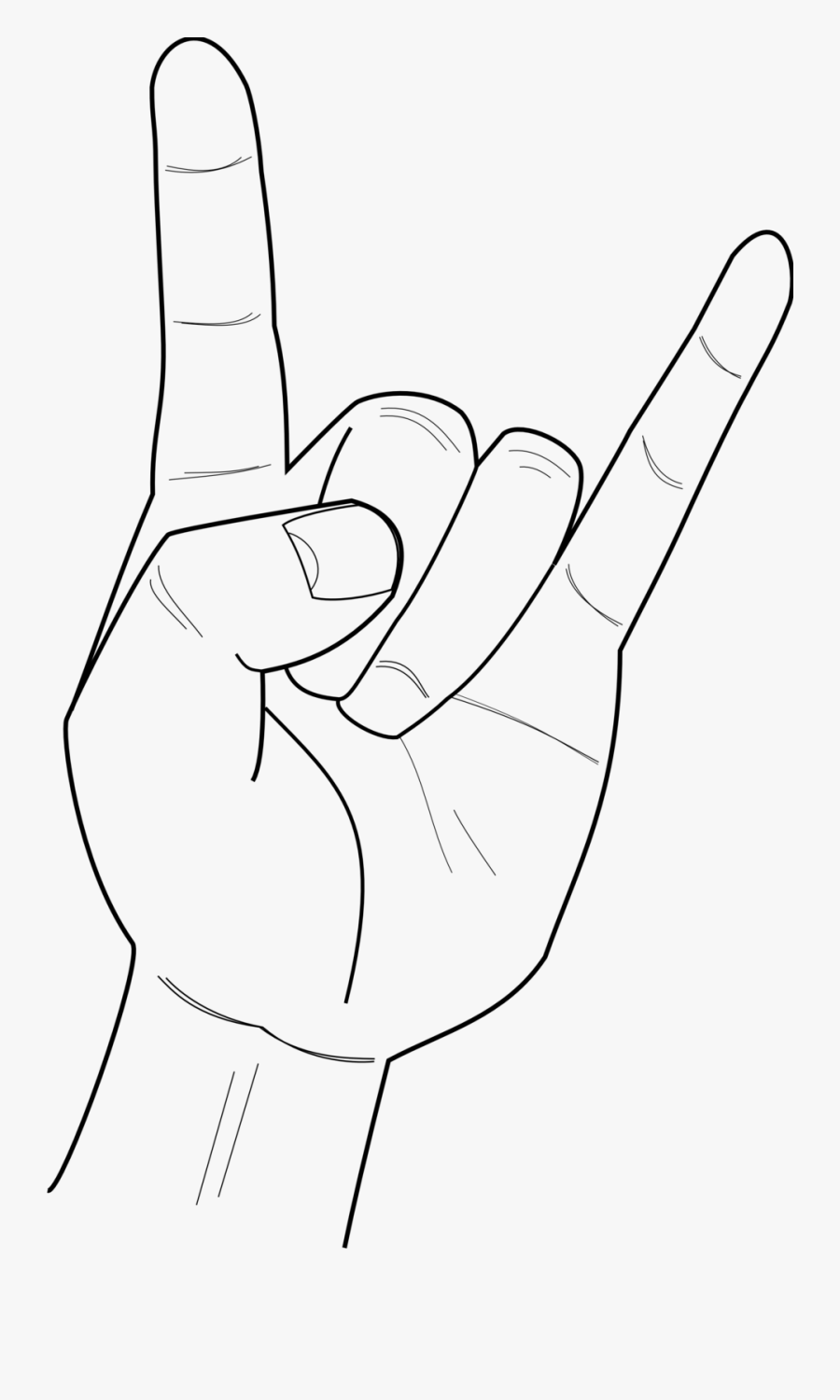 Metal Hand Sign Png , Free Transparent Clipart.