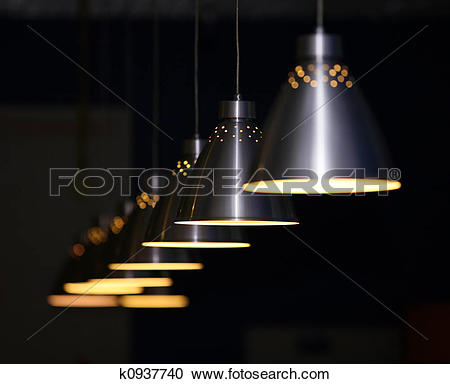Stock Photography of Metal lamps k0937740.