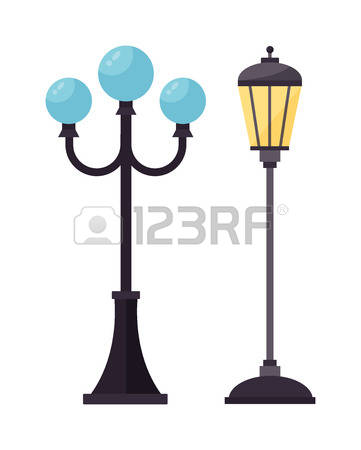 606 Pole Lamps Stock Vector Illustration And Royalty Free Pole.