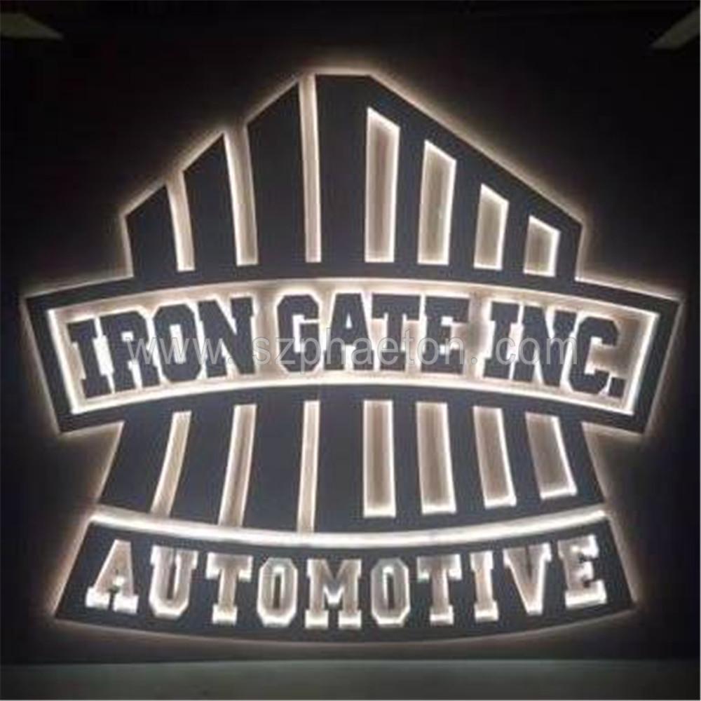 Outdoor Led Backlit Stainless Steel Metal Signs Logo / Led Channel Letter  Sign / Led Backlit Letter Sign.