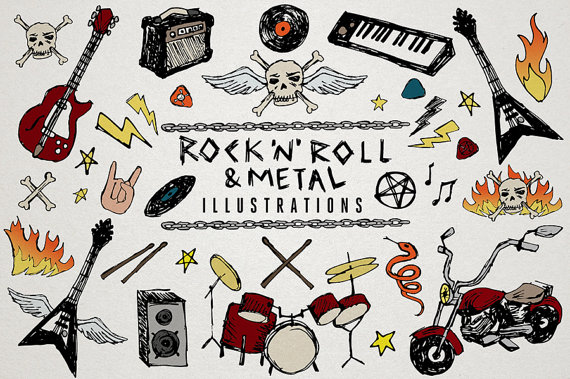 Rock 'n' Roll clipart & Heavy Metal Music Clip Art.