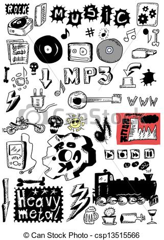 Doodle music heavy metal Illustrations and Stock Art. 226 Doodle.