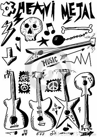 Heavy Metal Music Stock Images.