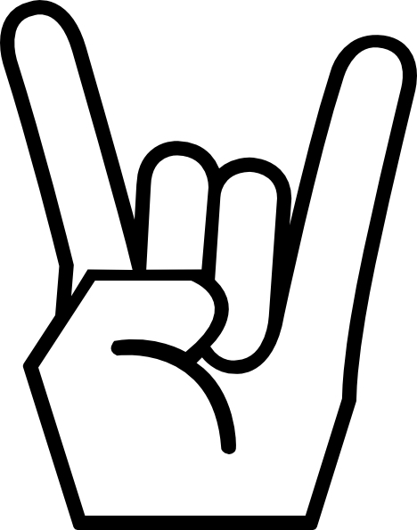 metal horns up pics.