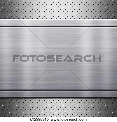 Stock Illustration of Metal plate with rivets k12998315.