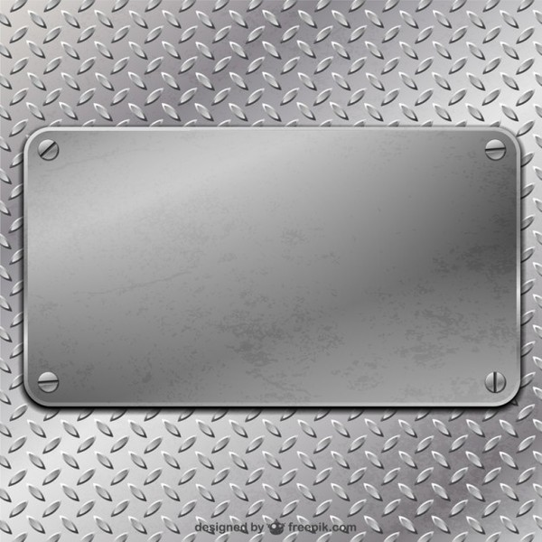 Metal Plate Background Free Vector.
